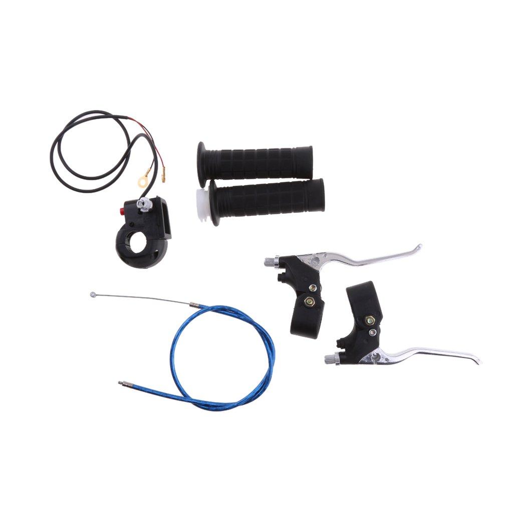 MonkeyJack Twist Throttle Grip Cable Brake Levers Kill Switch For 47cc 49cc Pocket Bike