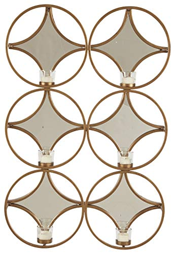 Ashley Furniture Signature Design - Emilia Wall Sconce - Contemporary - Gold Finish (Candle Contemporary Sconces)