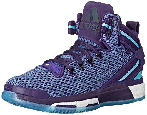 Adidas Performance D Rose 6 Boost J Shoe (Big Kid),Dark Purple/Blast Purple/Blue,5.5 M US Big Kid by adidas Originals