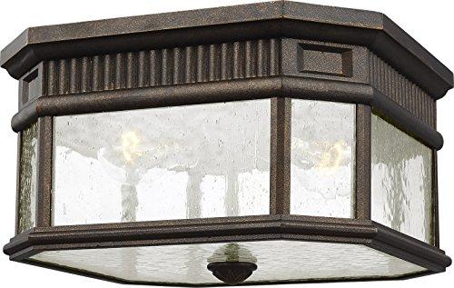(Feiss OL5433GBZ Cotswold Lane Outdoor Flush Mount Ceiling Lighting, Bronze, 2-Light (12