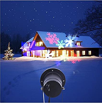 christmas light projectorhalloween decoration lights waterproof outdoor dynamic colorful snowflakes project xmas light rotating