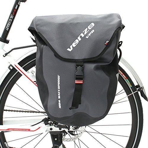 VENZO 600D TPU or Polyester Waterproof Bike Bicycle Rear Pannier Bag