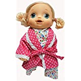 Doll Clothes Super store Flower Pajamas with Bathrobe Fits Baby Alive Go Go and Little Baby Dolls