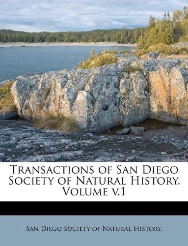 Transactions of San Diego Society of Natural History. Volume v.1 PDF