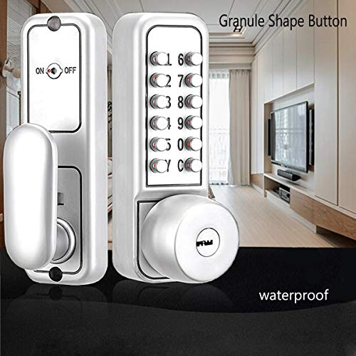 SPOTACT Combination Mechanical Lock Password Key Dual Use Multi Function Anti Theft Indoor and Outdoor Door Lock Lock Bolt by Spotact (Image #2)