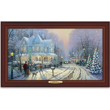 Thomas kinkade authentic canvas print a for Christmas wall art amazon