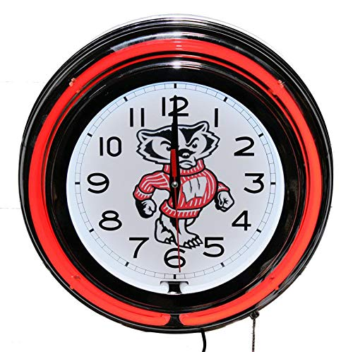 - Lifestyle Lighting Wisconsin Badgers Neon Clock