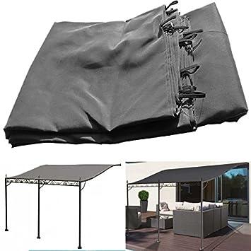 probache auvent pergola adoss pour terrasse gm 3 x 4 m avec toile grise