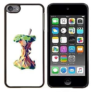 LECELL--Funda protectora / Cubierta / Piel For Apple iPod Touch 6 6th Touch6 -- Polígono Arte blanco profundo Significado --
