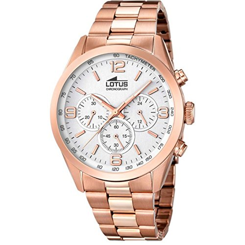 Men's Watch - Lotus - Pink Gold Platted - Chronograph - Tachymeter - 18154/1