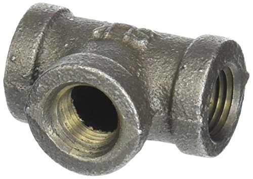 LDR 310 T-14 Tee, 1/4-Inch, Black Malleable Iron ()