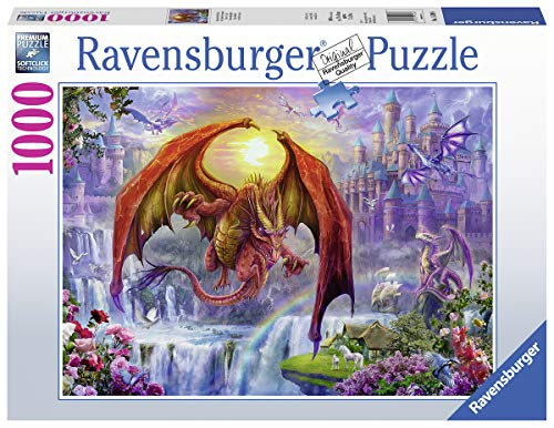 Ravensburger Dragon Kingdom 15269 1000 Piece Puzzle for Adults, Every Piece is Unique, Softclick Technology Means Pieces Fit Together Perfectly (Dragon 1000 Piece Jigsaw Puzzle)