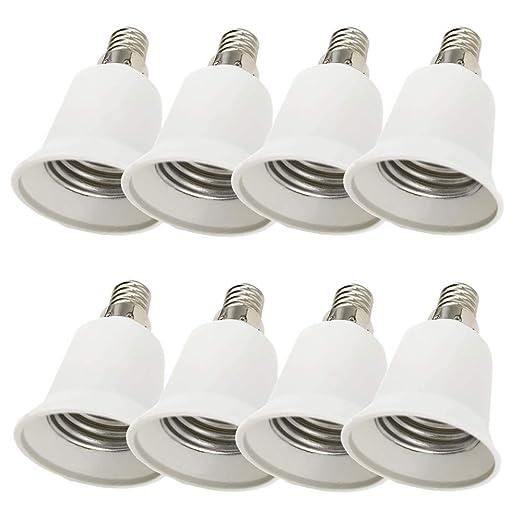 20x Lampensockel Adapter Lampenadapter f/ür LED-//Halogen- und Energiesparlampen Sockeladapter von EAZY CASE Konverter f/ür E14 Fassung auf G9 wei/ß