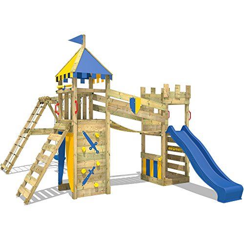 WICKEY Parque infantil Smart Legend 120 Torre de escalada Castillo ...