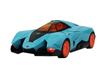 Lamborghini Egoista Die Cast Car Toy Blue Die Cast Vehicles