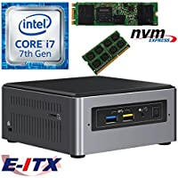 Intel NUC7I7BNH 7th Gen (Kaby Lake) Core i7 System (BOXNUC7I7BNH), 4GB DDR4, 240GB M.2 PCIe NVMe SSD, NO OS, Pre-Assembled and Tested by E-ITX