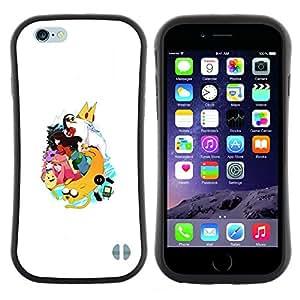 "Pulsar iFace Series Tpu silicona Carcasa Funda Case para Apple iPhone 6 / 6S (4.7 INCH) , Pingüino Rey Princesa Art de dibujos animados"""
