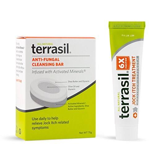 Jock Itch Treatment MAX + Soap - 6X Faster Than Leading Brands Dr. Recommended 100% Guaranteed All Natural Antifungal Ointment Treats Tinea Cruris Relieves Itch Irritation by Terrasil®