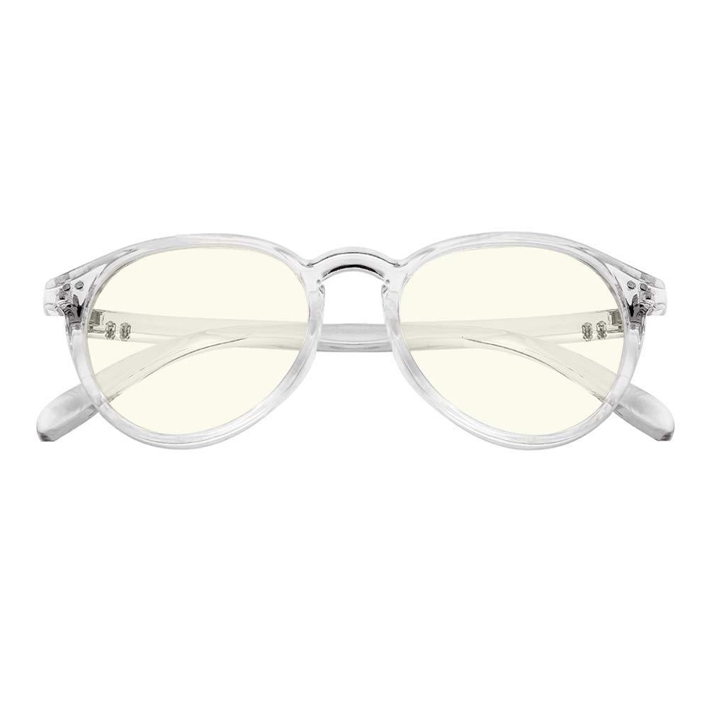 446cfb3a8e9 Blue Light Blocking Glasses Vintage Round Frame Eyeglasses for Women Men  Transparent
