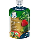 Gerber Organic 2nd Foods Baby Food Apple, Zuchini, Spinach and...