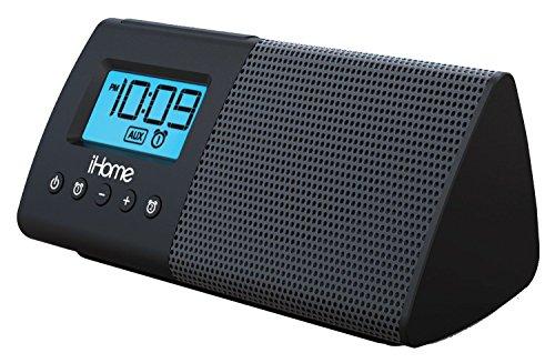 iHome iHM46BC Portable USB Charging Dual Alarm Clock Speaker System  - Black
