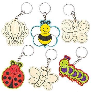 Amazon.com: Bug de madera llaveros para a los niños Hacer ...