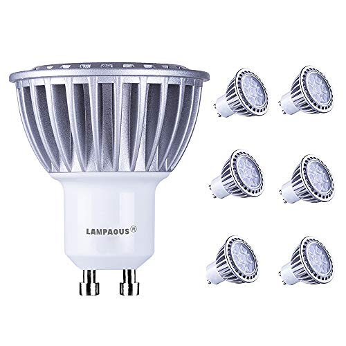 lbs 7W 120V Daylight Bulb,70W Halogen Bulb Equivalent,4000K Netural White Spotlight,led Recessed Ceiling Light,500lm Downlight,Home Indoor Lighting,6 Pack ()