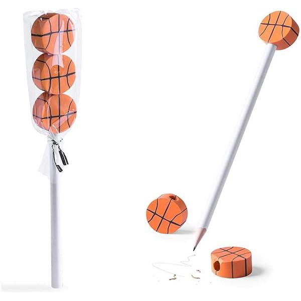Lote 30 lápices con 3 Gomas de borrar balón de Baloncesto. Regalos ...