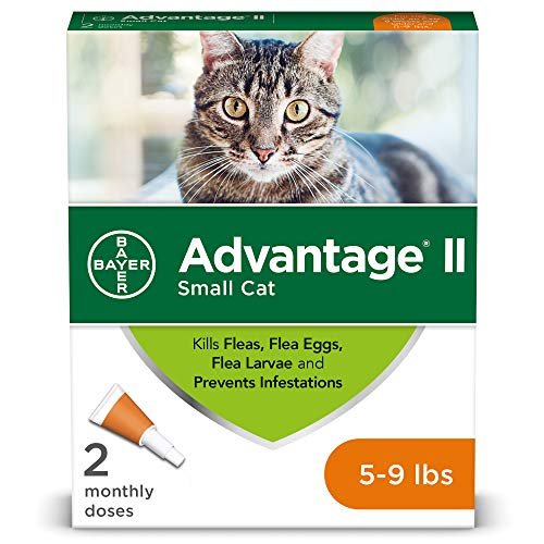 Advantage II Flea Prevention for Small Cats, 5-9 lbs, 2-Pack (2 dose)