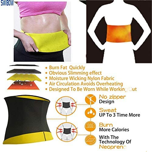 Waist Trainer Trimmer Belt for Weight Loss Neoprene Slimming Belt Sauna Fat Burner Sweat Corset Body Cincher for Women & Men 5