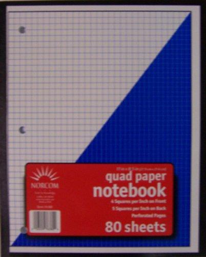 Norcom Wireless Quadrille Notebook, 11 x 8.5 Inches, 4 x ...