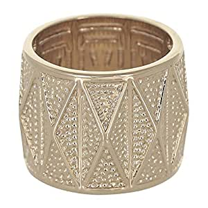 Venus Accessories Women's Gold Plated Brass Ring - 6 US