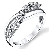 Sterling Silver Love Journey Ring with Cubic Zirconia CZ Size 9