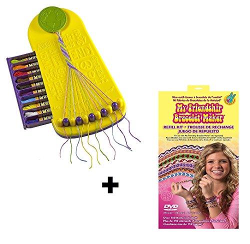 Choose Friendship BUNDLE My Friendship Bracelet Maker Kit and Refill Kit, Kids Jewelry Kit, Bracelet Craft Kit Jewelry Making Bracelet Kit, Travel Edition