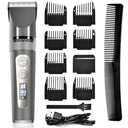 Hair Clippers – Professional Hair Clippers for Men, Cordless Hair Cutting Kit with Ceramic Blades & LED Display, 200…
