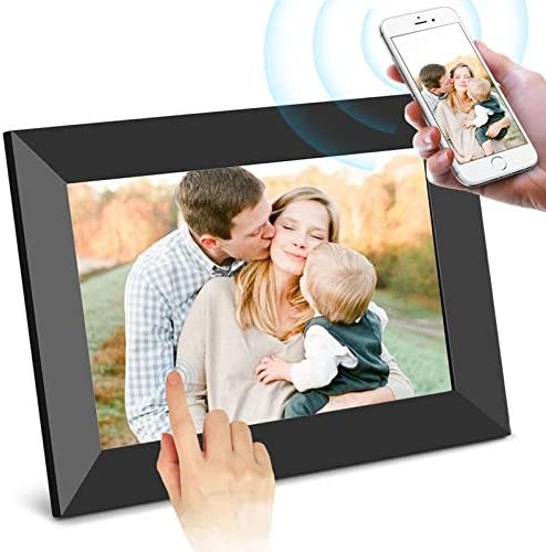 SCISHION Smart 10 Inch 16GB WiFi Digital Photo Frame with HD IPS Display Touch Screen - Share Moments Instantly by the use of Frameo App from Anywhere (Black)