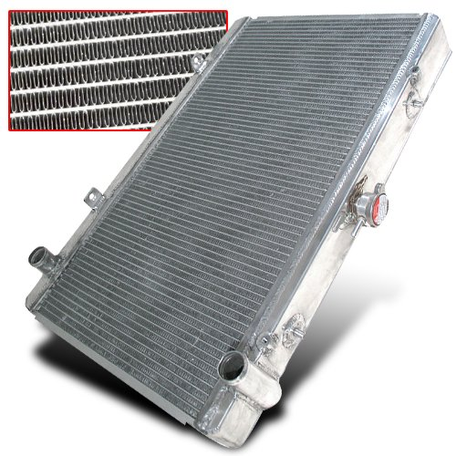 Radiator Performance Aluminum Manual (Nissan 240sx S14 Dual Row Aluminum Performance Racing Radiator (Fit Manual Only, Does Not Fit Automatic Engine))