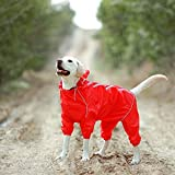 Flyingpets Dog Raincoats for Small Dogs - Small Dog Raincoat - Dog Raincoat Small - Pet Dog Raincoat Reflective Waterproof Clothes High Neck Hooded Jumpsuit for Small Big Dogs.