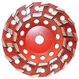 ''S'' Segment Cup Wheel, 7 Inch, 14 Segment, 30 Grit, 5/8''‑11 Arbor, Threaded
