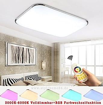 Stylehome®RGB 30W LED Deckenlampe Küchenlampen 6310-30W Silber 3000 ...