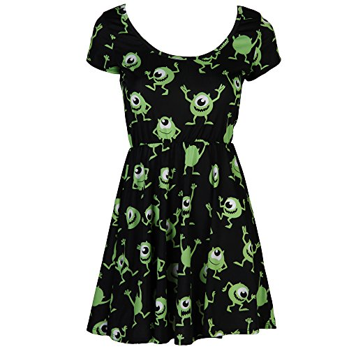 Monsters, Inc. Mike Wazowski Scares Juniors Skater Dress (Medium)