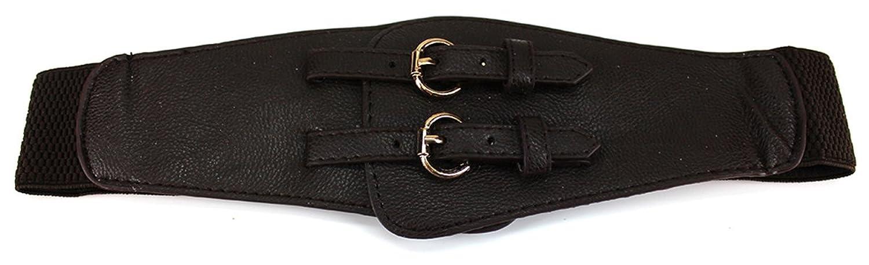 Dark Choco Double Crossed Fashion Belt