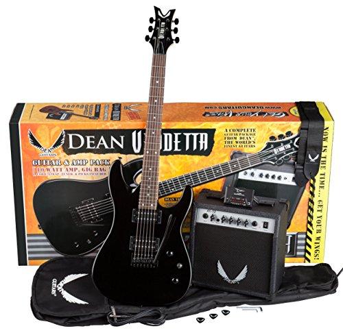ectric Guitar with Tremolo - Metallic Black ()