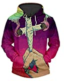 JW 3d Fashion Hoodies EU and Us Style 2018 Cross Cigarettes Purple Sweatshirts Hip Hop O-Neck Sweats Tops Hooded Pullovers
