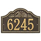 "Rope Shell Arch Address Plaque 15.5""W x 10""H (1 Line)"