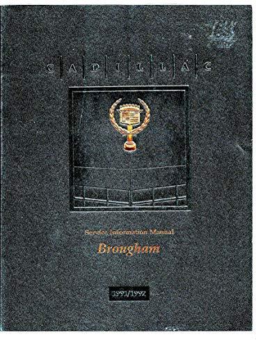 1991-1992 Cadillac Brougham Repair Shop Manual Original