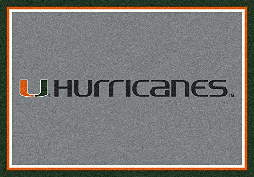 American Floor Mats Miami Hurricanes NCAA College Team Spirit Team Area Rug 3'10