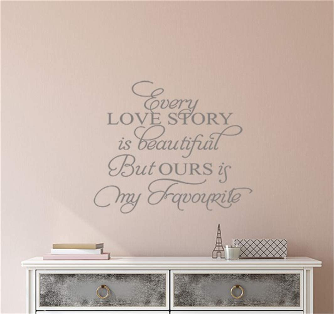 Amazon Com Wall Stickers Inspiring Quotes Home Art Decor Decal Mural Every Love Story Is Beautiful But Ours Is My Favorite For Living Room Bedroom Home Kitchen