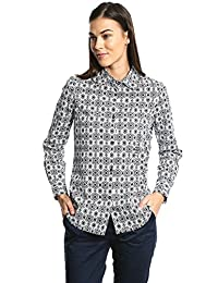 Dockers Blusa Tailored Stretch Shirt Paisley Egret Print Camisa para Mujer