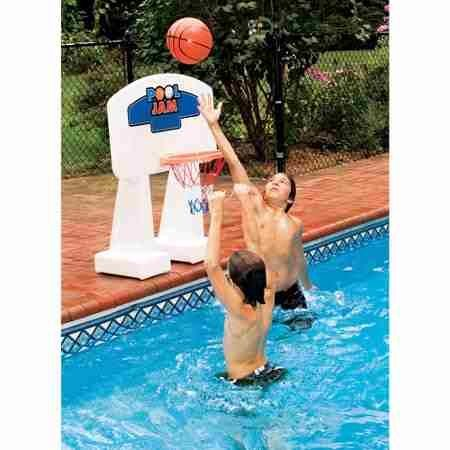 Pool Jam Combo Swimming Pool Basketball Hoop for in-ground Pools